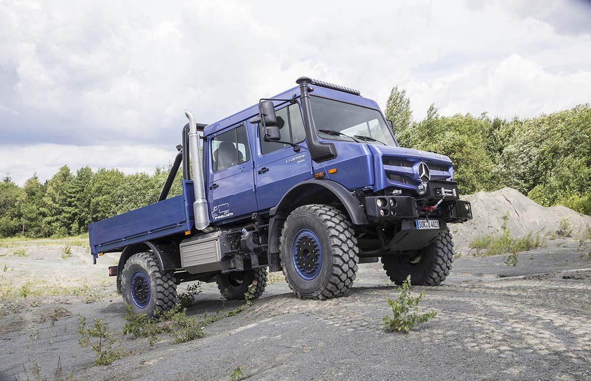 Unimog U4023 Komplettansicht Bergbau