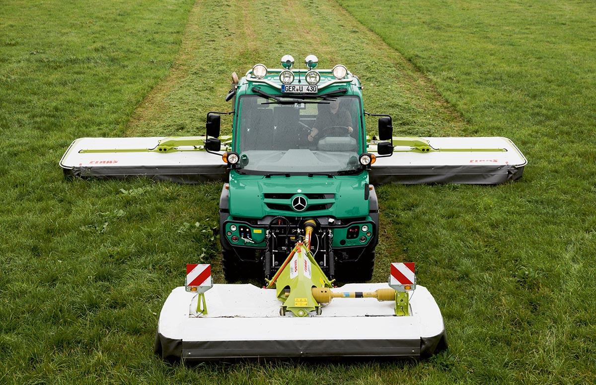 Unimog in der Landwirtschaft zum Mähen