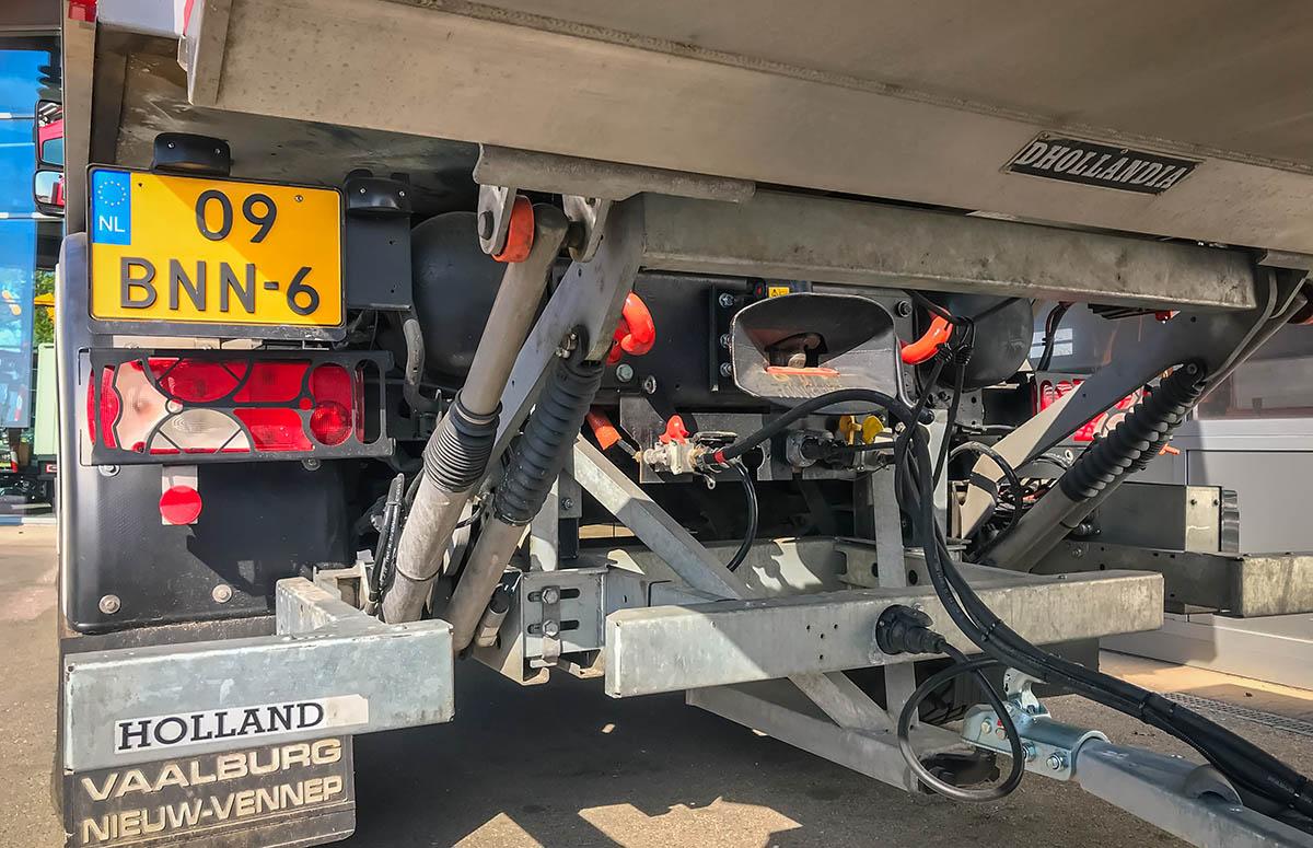 Hydraulische Bordwand, Unimog U 5023