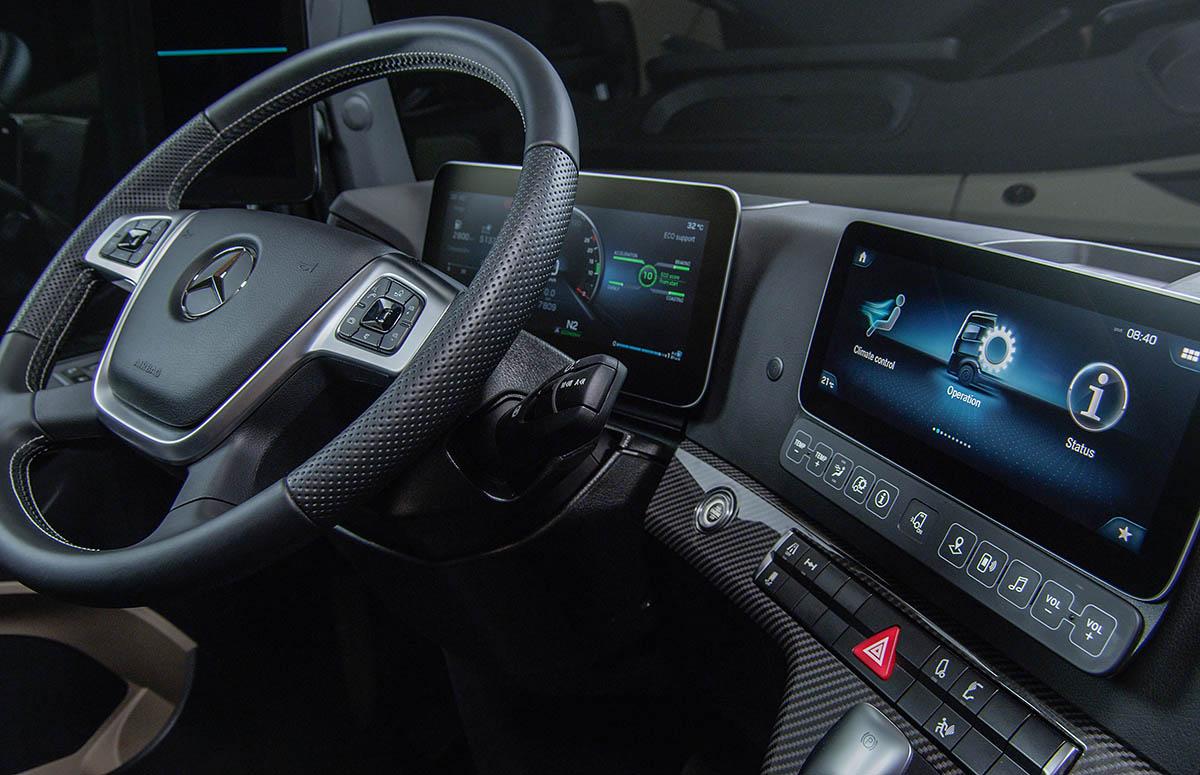 Mercedes-Benz Actros, Modelljahr 2018Mercedes-Benz Actros, Kabinenansicht