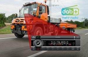 DAB + im Mercedes-Benz Unimog