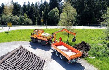 Krananhänger für Schüttguttransport